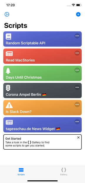 Scriptable (App für iPhone & iPad)