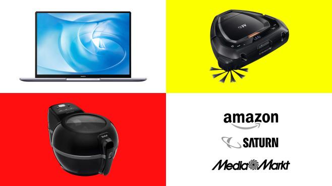 Amazon, Media Markt, Saturn: Top-Deals des Tages!©Amazon, Media Markt, Saturn, Huawei, AEG, Tefal