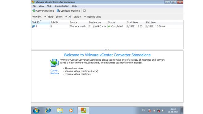 Virtuelle Maschinen: Die besten Tipps zu VirtualBox, XP-Modus, VMWare & Co. Dieses kostenlose VMWare-Programm konvertiert Windows-PCs in simple Dateien.©COMPUTER BILD