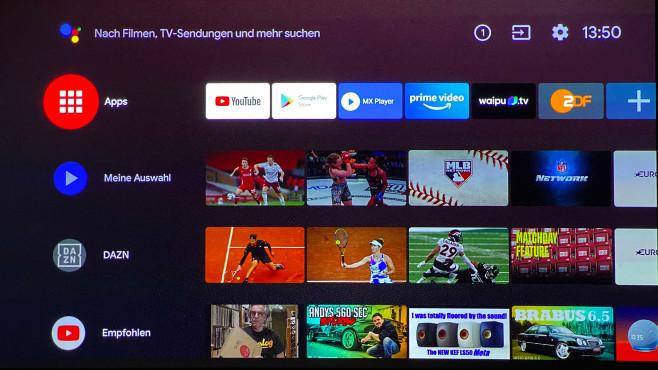 Nebula Cosmos: Der Video-Beamer der Anker-Tochter im Test Dank Android TV 9 bietet der Nebula Cosmos eine große App-Auswahl, die Netflix-App war jedoch nicht verfügbar.©COMPUTER BILD