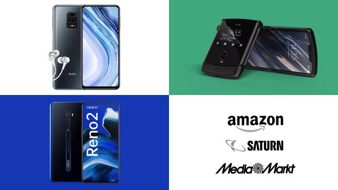Amazon, Media Markt, Saturn: Top-Deals des Tages!©Amazon, Media Markt, Saturn, Xiaomi, Oppo, Motorola