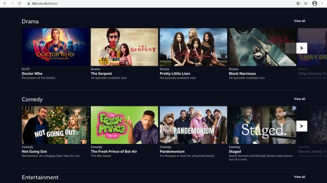 BBC iPlayer: So streamen Sie per VPN in Deutschland Neben tollen Eigenproduktionen hat die BBC auch Hollywood-Blockbuster zu bieten.©BBC