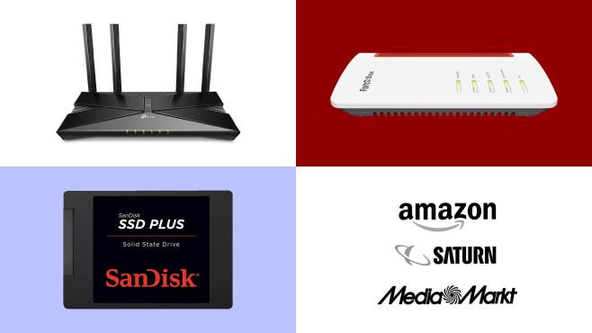 Amazon, Media Markt, Saturn: Top-Deals des Tages!©Amazon, Media Markt, Saturn, AVM, SanDisk, TP-Link