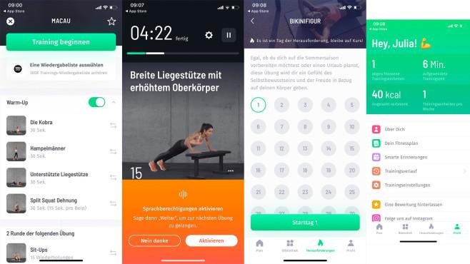 30 Tage Fitness Challenge©Screenshot 30 Tage Fitness Challenge App