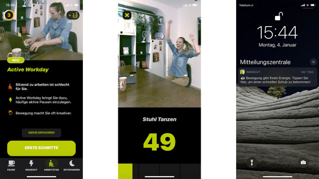 Wakeout iPhone App©Screenshot Wakeout-App
