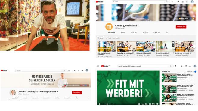 YouTube Fitness©Screenshot YouTube.de, COMPUTER BILD