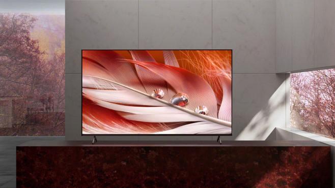 Ab der Modellreihe X90J führen die Sony Fernseher 2021 den Zusatz Bravia XR als Hinweis auf Bildverarbeitung mit Hilfe kognitiver Intelligenz.©Sony