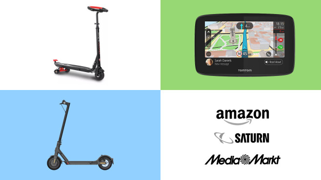 Amazon, Media Markt, Saturn: Top-Deals des Tages!©Amazon, Media Markt, Saturn, TomTom, Rollplay, Xiaomi