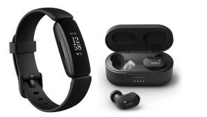 Fitbit-Fitnesstracker und Belkin-Kopfh�rer©tink