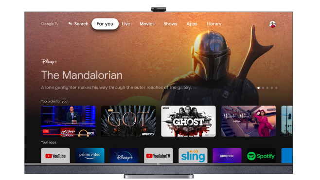 Die TCL-Fernseher 2021 sind mit Google-TV ausgestattet.©TCL