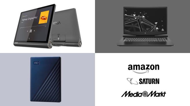 Amazon, Media Markt, Saturn: Top-Deals des Tages!©Amazon, Media Markt, Saturn, Lenovo, HP, WD
