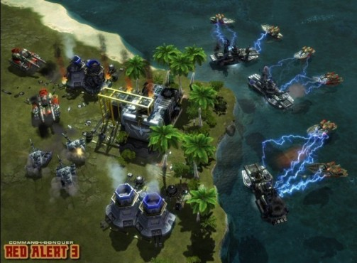 Strategiespiel Command & Conquer – Alarmstufe Rot 3: Tesla-Boote