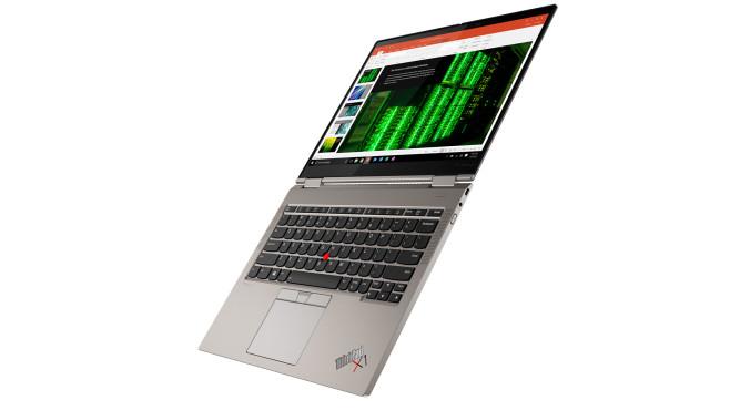 Lenovo ThinkPad X1 Titanium Yoga voll aufgeklappt vor weißem Hintergrund©Lenovo