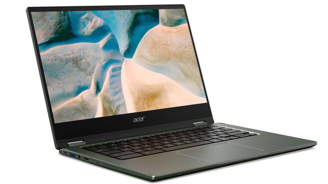 Acer Chromebook 514 (2021) vor weißem Hintergrund©Acer