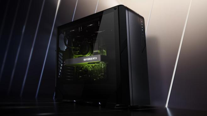 Nvidia GeForce RTX 3060: Neue Grafikkarte vorgestellt Nvidias bislang günstigste Grafikkarte aus der Ampere-Familie, die GeForce RTX 3060, erscheint mit 12 Gigabyte Speicher.©Nvidia