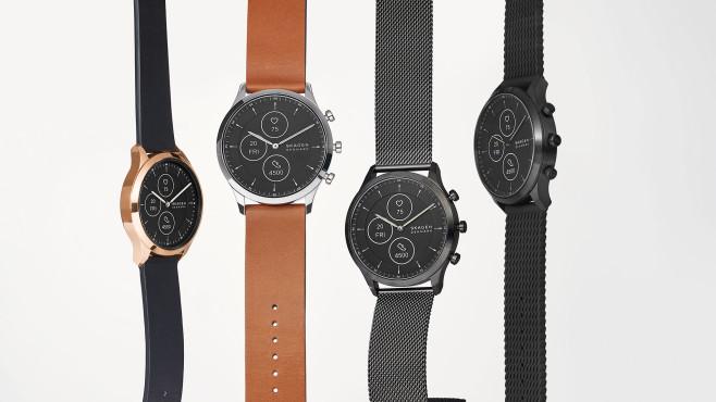 Vier Ausführungen der Hybrid Smartwatch Jorn Hybrid HR©Skagen