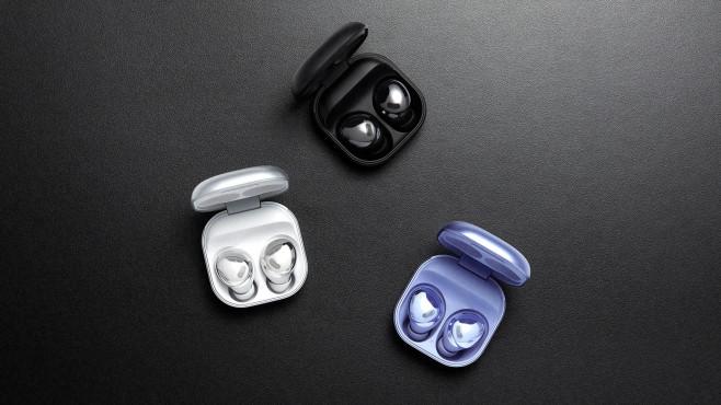 Samsung bietet die Galaxy Buds Pro in drei Farben an.©Samsung