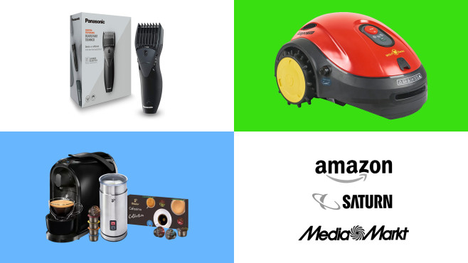 Amazon, Media Markt, Saturn: Top-Deals des Tages!©Amazon, Media Markt, Saturn, Tchibo, Panasonic, Wolf Garten