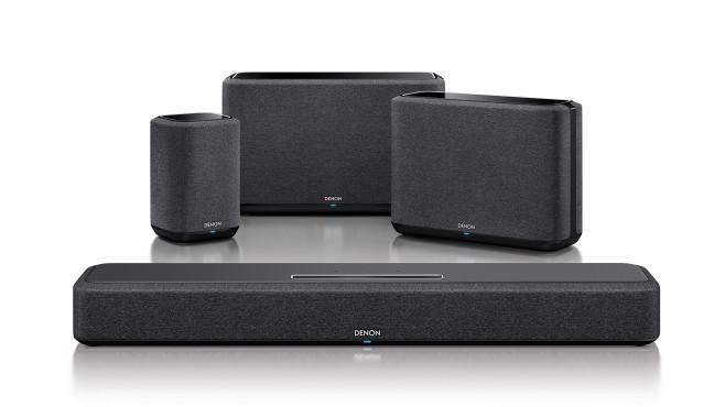 Die neue Denon Home Soundbar 550 ist Mitglied der WLAN-Lautsprecher-Familie des Herstellers mit Home 150, Home 350 und Home 250©Denon