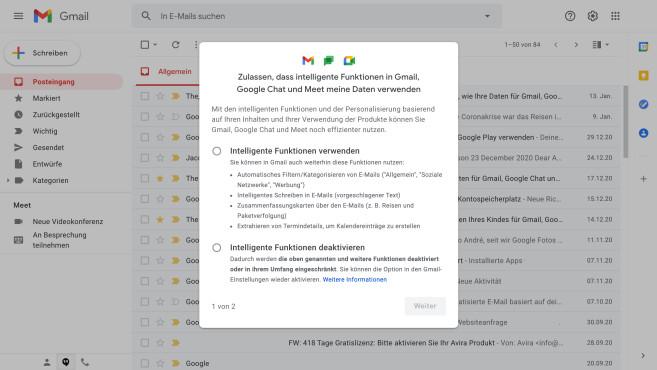 Gmail intelligente Funktionen©COMPUTER BILD