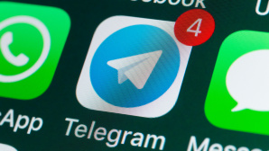 Icon der App-Telegram © iStock.com/stockcam