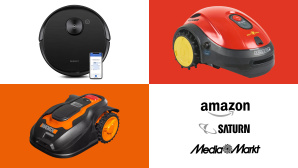 Amazon, Media Markt, Saturn: Top-Deals des Tages! © Amazon, Media Markt, Saturn, Ecovacs, Worx, Wolf Garten