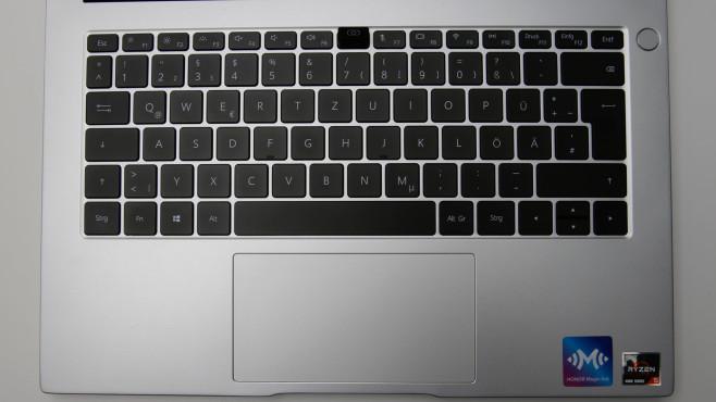 Die Tastatur des Honor MagicBook 14 (2021) .©COMPUTER BILD