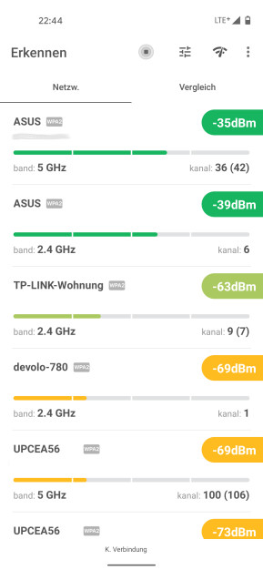 NetSpot WiFi Analyzer (Android-App)