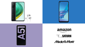 Amazon, Media Markt, Saturn: Top-Deals des Tages! © Amazon, Media Markt, Saturn, Xiaomi, Samsung, Oppo