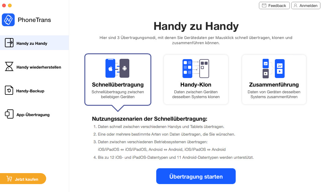 Screenshot 1 - PhoneTrans (Mac)