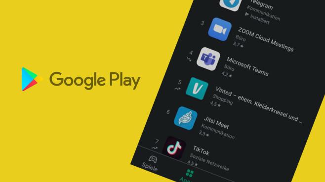 Google Play Store: Neue Icons für Auf- und Absteiger-Apps©Google