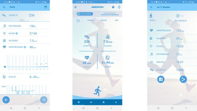Medion Fitness App©Medion
