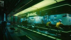 futuristische Szenerie aus Cyberpunk 2077©CD Projekt