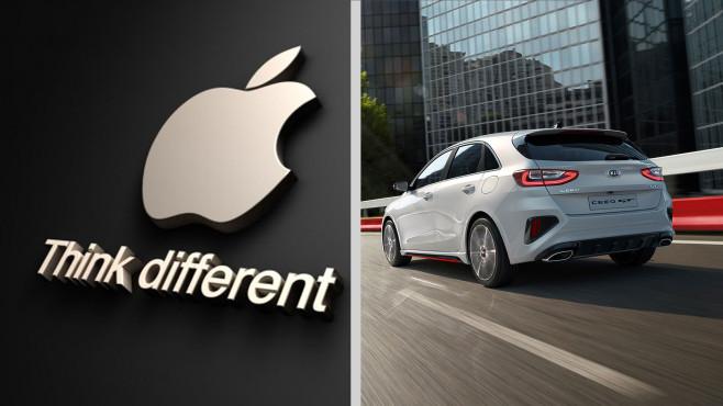 Apple Car: Kooperation mit Kia im Gespräch Jüngste Berichte besagen, dass Apple und Kia Motors bald gemeinsame Sache machen.©Apple, Kia Motors