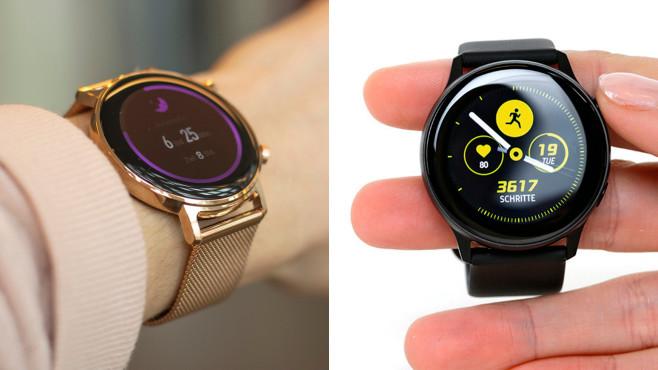 Huawei Watch GT 2, Samsung Galaxy Watch Active©COMPUTER BILD / Alena Zielinski
