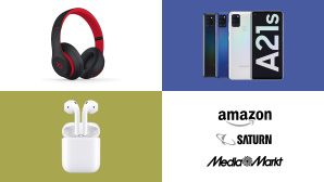 Amazon, Media Markt, Saturn: Top-Deals des Tages! © Amazon, Saturn, Media Markt, Samsung, Apple, Beats