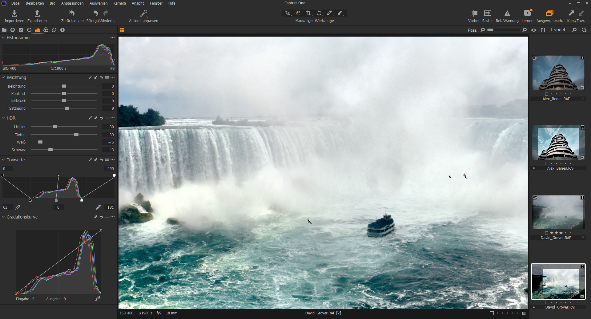 Screenshot 1 - Capture One Express für Nikon-Kameras