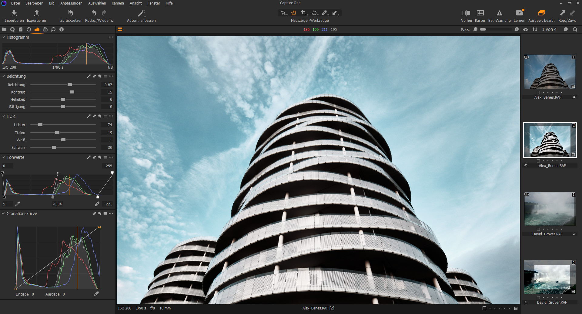 Screenshot 1 - Capture One Express für Fujifilm-Kameras