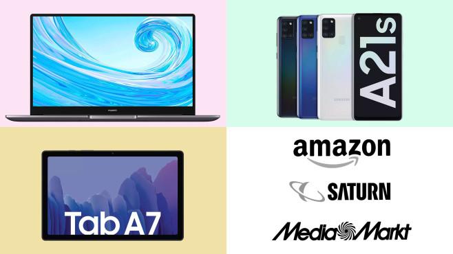 Amazon, Media Markt, Saturn: Top-Deals des Tages!©Amazon, Saturn, Media Markt, Samsung, Huawei