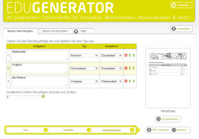 Wochenplan Generator