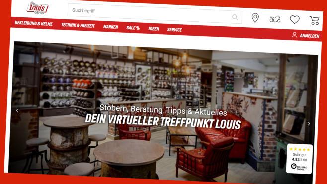 Louis: Lukrative Spar-Deals für Biker©www.louis.de/Screenshot