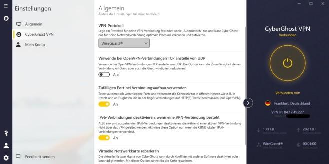 cyberghost settings wireguard©cyberghost vpn