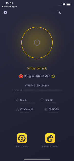 CyberGhost VPN (App für iPhone & iPad)