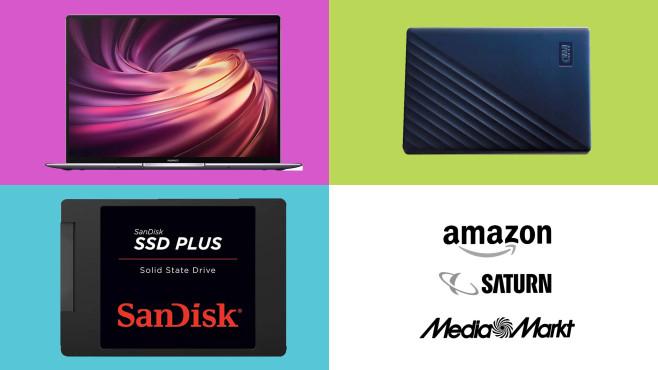 Amazon, Media Markt, Saturn: Top-Deals des Tages!©Amazon, Saturn, Media Markt, Huawei, SanDisk, Western Digital