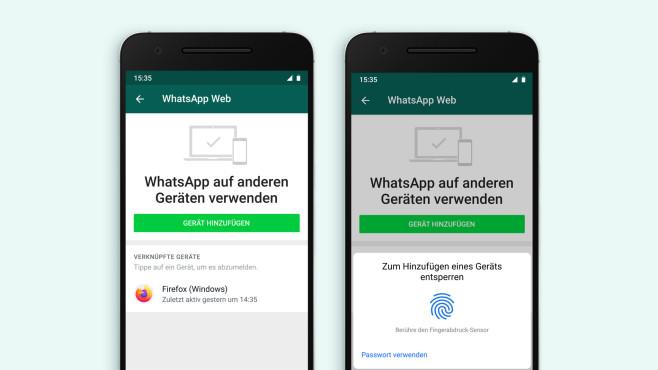 WhatsApp Web: Fingerabdruck©WhatsApp