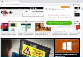 Avira Phantom VPN für Chrome
