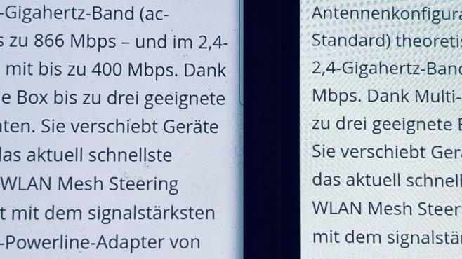 Display: Galaxy S20 Ultra vs Galaxy A42 5G©COMPUTER BILD
