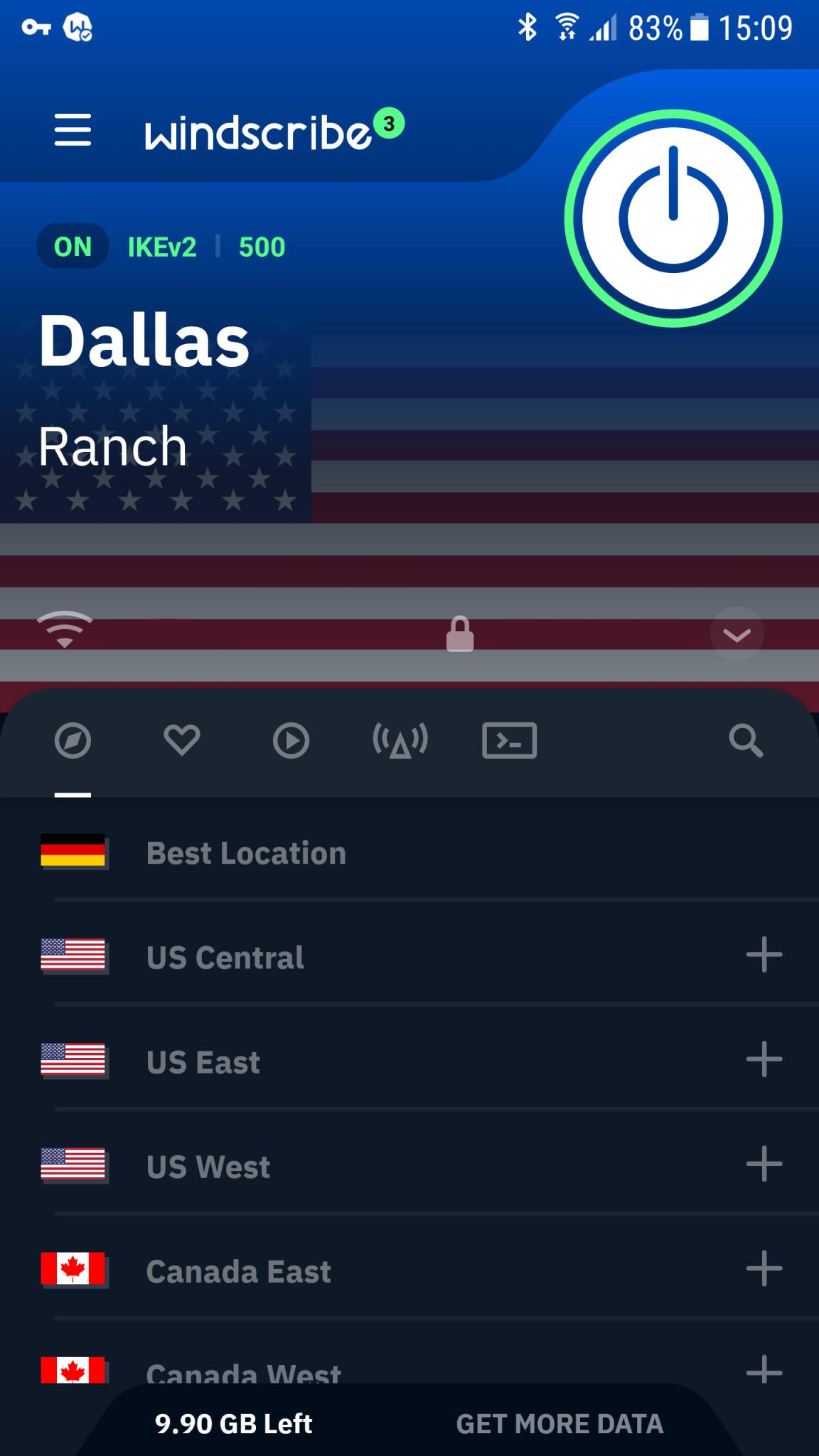 Screenshot 1 - Windscribe VPN (Android-App)