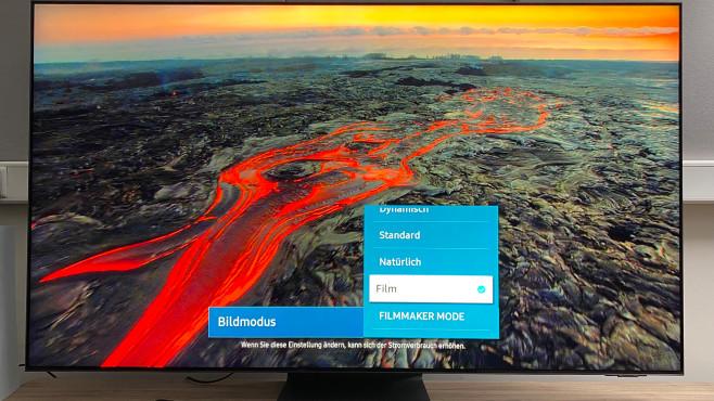 Beste Bildqualität zeigt der Samsung QN95A im Film-Modus.©COMPUTER BILD