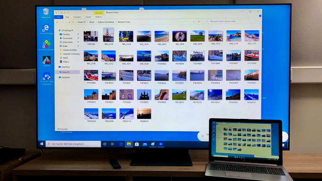 Die PC-on-TV-Funktion stellt einen Fernzugriff auf den Computer per WLAN her.©COMPUTER BILD